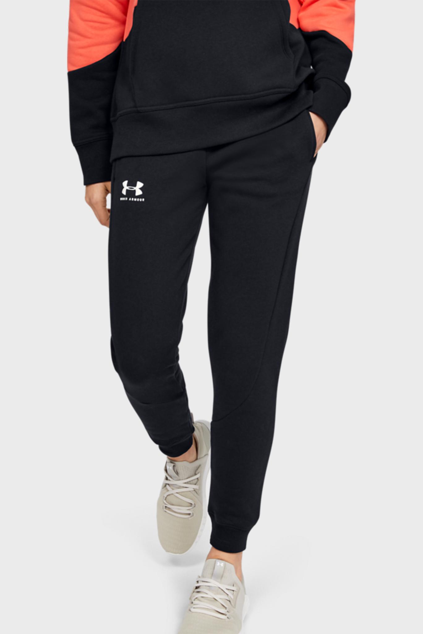 Женские черные спортивные брюки Rival Fleece Fashion Jogger Under Armour
