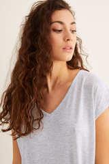 Нічна сорочка міді з короткими рукавами