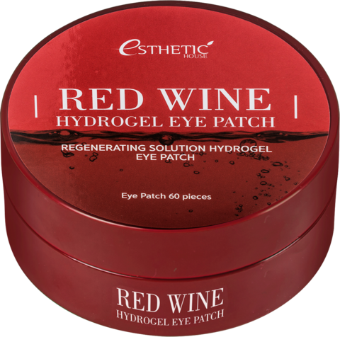 ESTHETIC HOUSE Гидрогелевые патчи для глаз КРАСНОЕ ВИНО Red Wine Hydrogel EyePatch, 60 шт