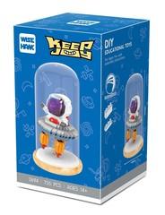 Конструктор в колбе Wisehawk Космонавт в летающей тарелке 735 детали NO. 2694 Astronaut in a flying saucer Keep Joy Series