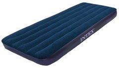 Матрас надувной INTEX Classic Downy Airbed синий размер 191 х 99 х 25 см 64757