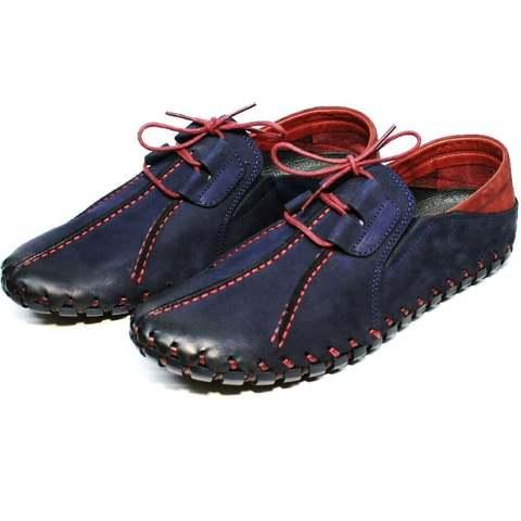 Летние туфли мужские кожаные. Мокасины летние синие Luciano Bellini LNBN