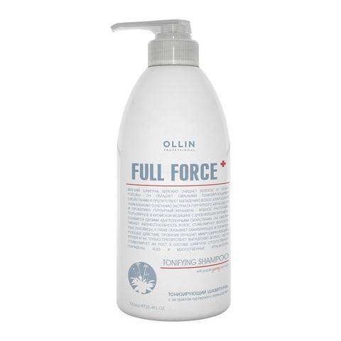 OLLIN PROFESSIONAL FULL FORCE Тонизирующий шампунь с экстрактом пурпурного женьшеня 750 мл