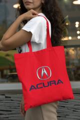 Женская сумка-шоппер с принтом Акура (Acura) красная 001