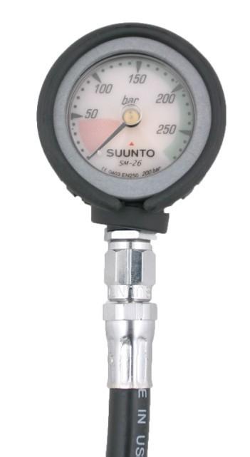 Манометр Suunto SM - 26/ 200, с резиновым кожухом