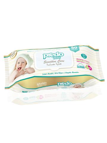 Predo Baby. Влажные салфетки, с клапаном 1уп/80 шт