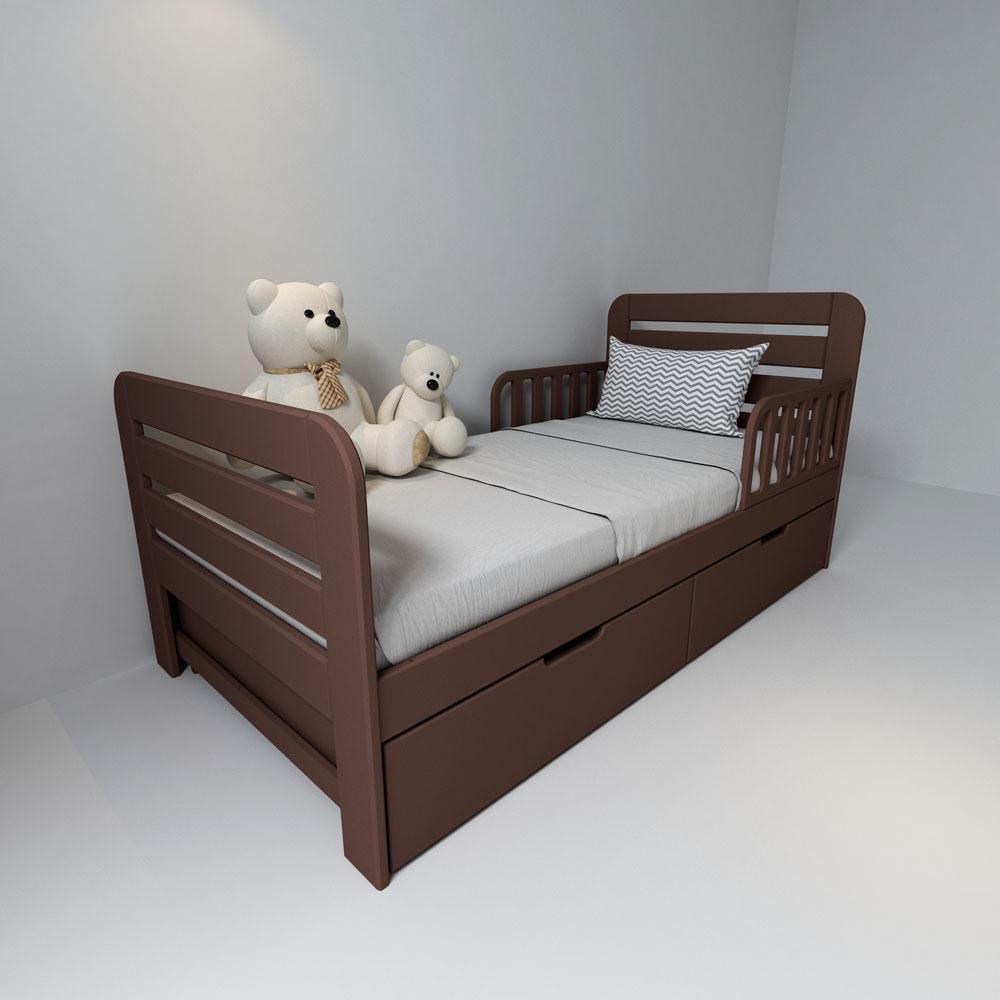 Кровать с ящиками Феалта-baby Охта Шоколад