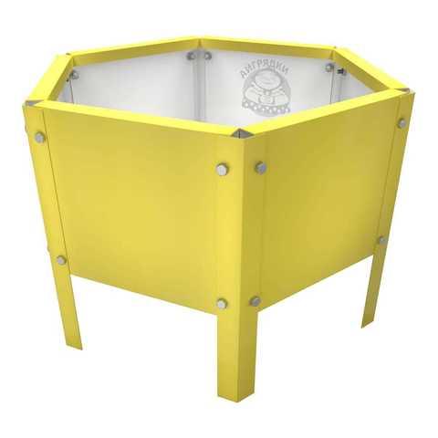 Клумба многоугольная оцинкованная с ножками 1 ярус  RAL 1018 Цинково-жёлтый