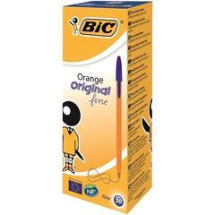 Ручка шариковая одноразовая неавтоматическая масляная BIC Orange синяя (толщина линии 0.35 мм, 20 штук в упаковке)