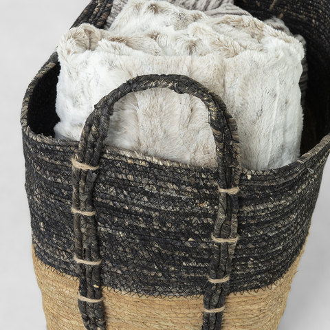 Набор Kuomi из 3-х корзин темно-серый и коричневый