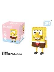 Конструктор Wisehawk & LNO Губка Боб Квадратные Штаны (Спанч Боб) 136 детали NO. 230 Sponge Bob Square Pants Gift Series