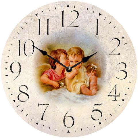 Часы настенные большие из МДФ 42 см