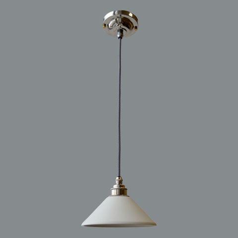 Подвесной светильник латунный c керамическим плафоном Nikel Англия