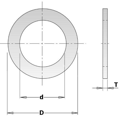 Кольцо переходное 30-20x2мм для пилы
