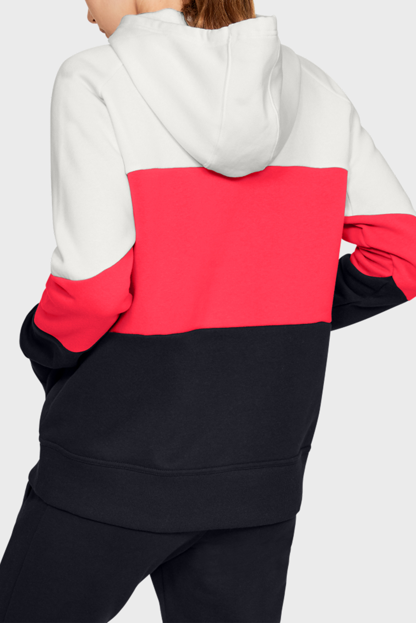 Женское худи Rival Fleece Color block Hoodie Under Armour