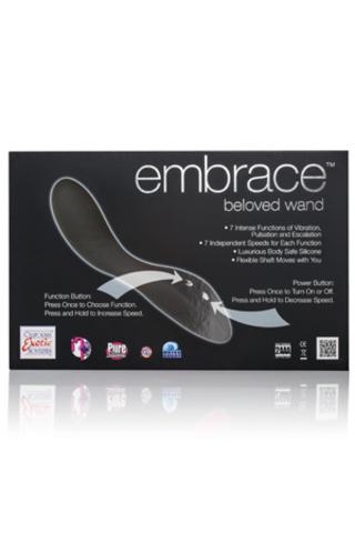 Вибратор вагинальный G, силиконовый, 20 см/13 см, диам. 3,5 см, EMBRACE Beloved Wand серый