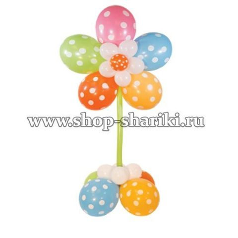Цветочек из шариков на ножке