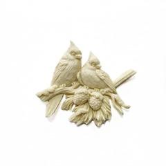 0808 Молд силиконовый. Птицы на елке.