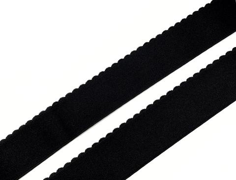 Резинка отделочная черная 50 мм Lauma