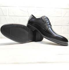 Черные туфли мужские классика Ikoc 3416-1 Black Leather.