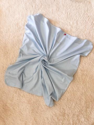 Трикотажный плед Рибана (голубой)
