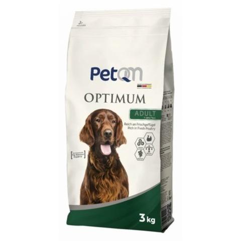 PetQM Dog Optimum Adult Rich in Fresh Poultry сухой корм для собак со свежей курицей 15 кг.