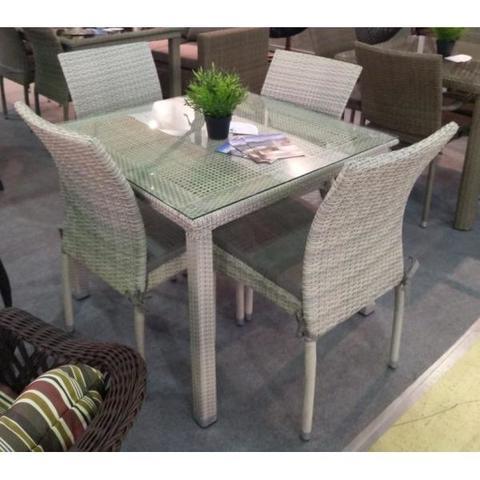 Комплект плетеной мебели T257C/Y380C-W85-90x90 4Pcs Latte