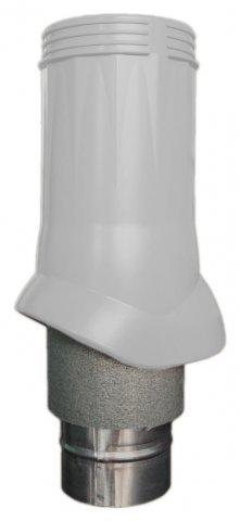Выход вентиляционный ERA VWO D125/160 Silver изолированный для нанодефлектора, пластик