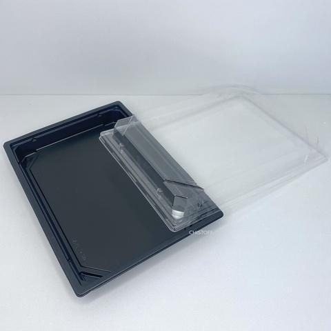 Упаковка ПР-С-25Д черная + крышка для суши (Россия)