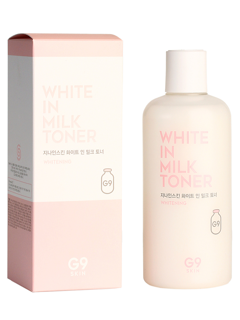 Berrisom Тонер для лица осветляющий G9SKIN White In Milk Toner 300мл БР137.jpg