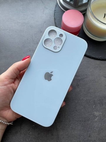 Чехол iPhone 12 Pro Max /6,7''/ Glass Pastel Full Camera /sky blue/