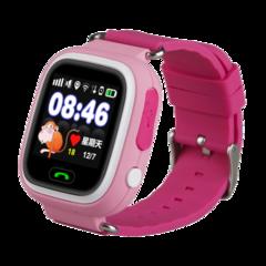 Детские часы Smart Baby Watch Q80 (Q90, GW 100) с GPS-трекером розовые