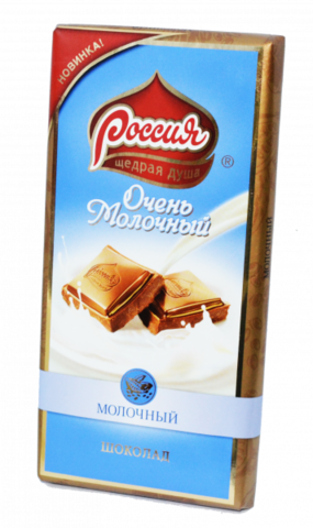 Шоколад Россия Очень Молочный 82г