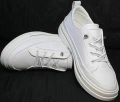 Стильные туфли женские летние кроссовки El Passo sy9002-2 Sport White.