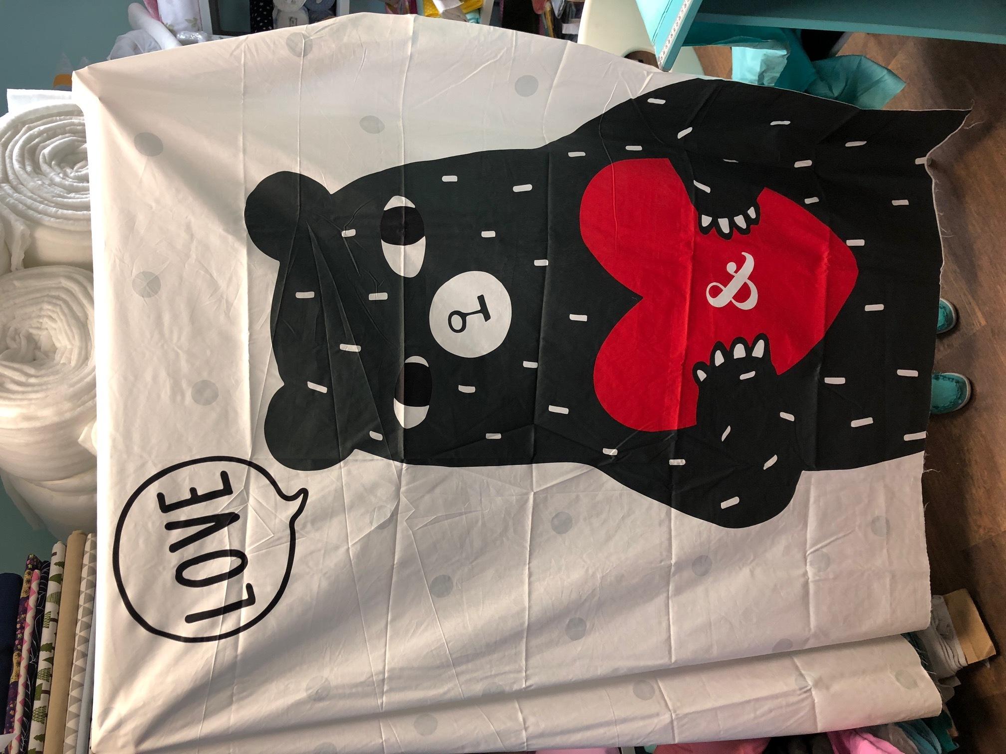 Панель(купон) мишка с сердцем