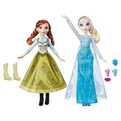 Набор кукол Анна и Эльза Фрозен, Снежный день