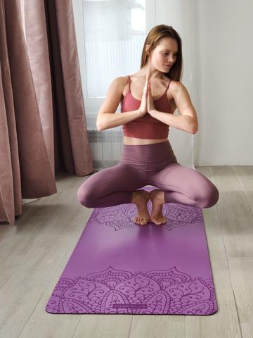 Каучуковый йога коврик Pro Om 185*68*4,5 см