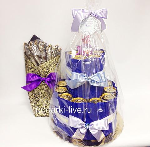 Букет из воблы и торт из напитков 21-01-03