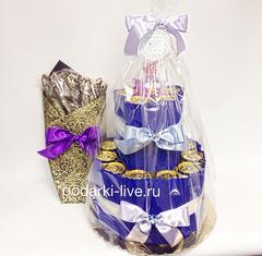 Букет из воблы и торт из напитков П15-03