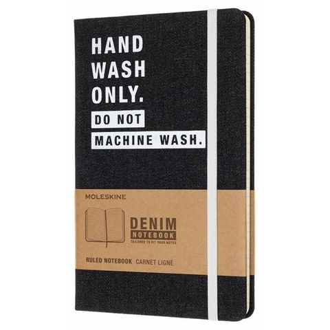Блокнот Moleskine Limited Edition DENIM NOTEBOOKS LCDNQP060H Large 130х210мм 240стр. линейка HAND WASH