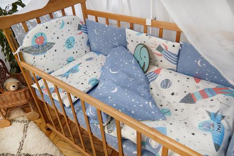Защита в кроватку от комплекта Есо 8 шт 01-02-01 Для Мальчика Космос