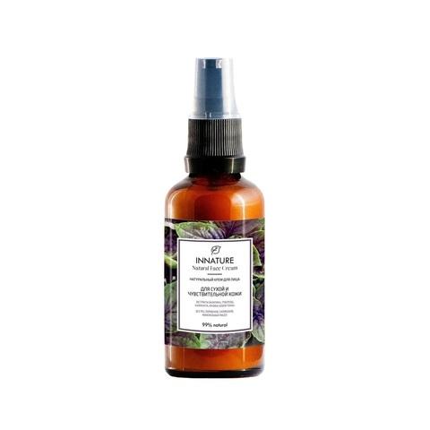 Натуральный крем для лица для сухой и чувствительной кожи | Innature