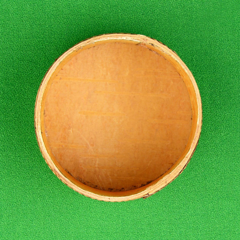 Шкатулка круглая открытая сверху