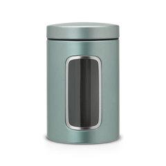 Контейнер для сыпучих продуктов с окном (1,4 л), Мятный металлик