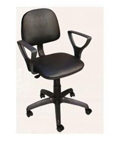 Кресло ФОРУМ 2 газлифт кожзам черный