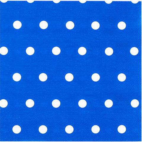1502-3931 Салфетки Горошек синие 33см, 12шт