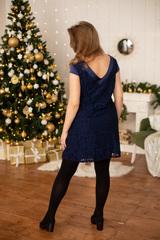 Платье для беременных цвет темно-синий