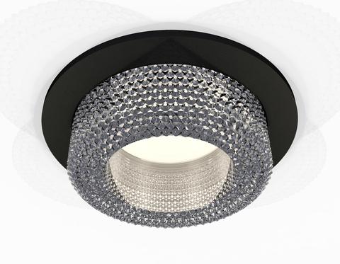 Комплект встраиваемого светильника XC7622020 SBK/CL черный песок/прозрачный MR16 GU5.3 (C7622, N7191)