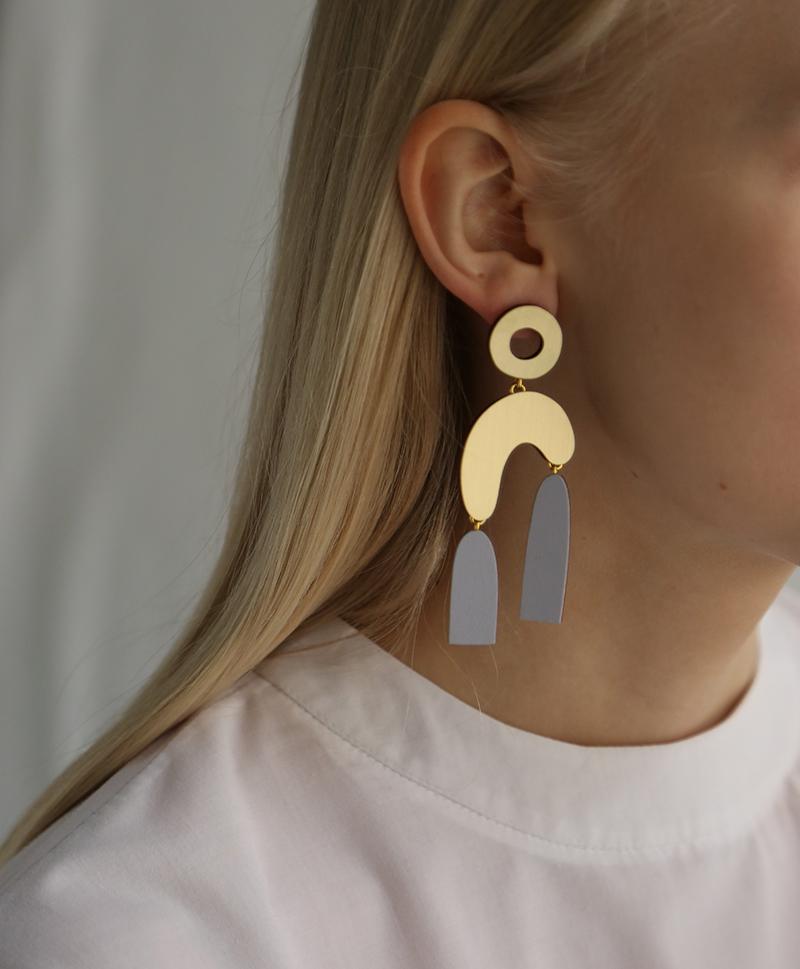 Серьги Balance Earrings Lavender