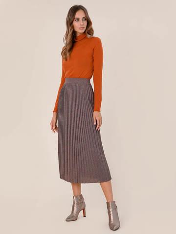 Женская юбка терракотового цвета из вискозы - фото 2